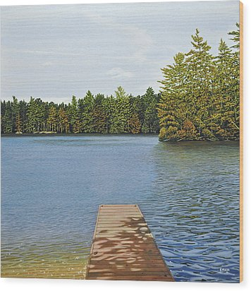 Off The Dock Wood Print by Kenneth M  Kirsch