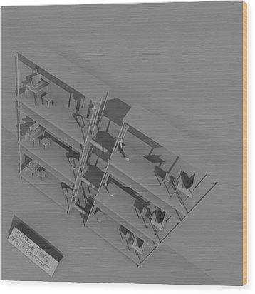 Office Two Wood Print by Rolf Bertram