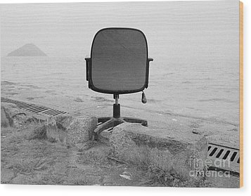Office With A View Wood Print by Dean Harte