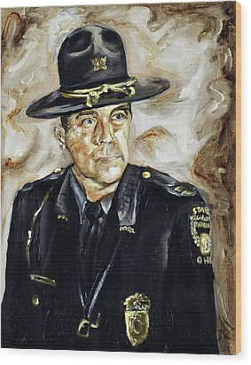 Officer Demaree Wood Print