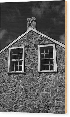Officers Quarters, Monochrome Wood Print by Travis Burgess
