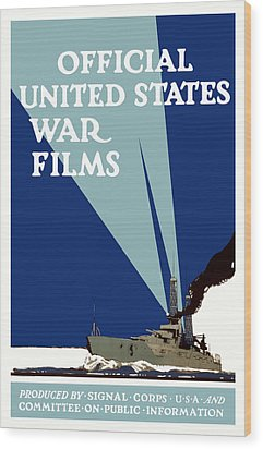 Official United States War Films Wood Print by War Is Hell Store
