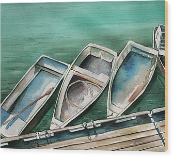 Ogunquit Maine Skiffs Wood Print