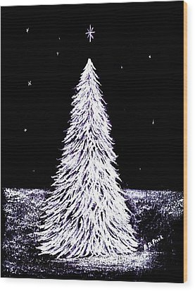 Oh Christmas Tree Wood Print by Diane Frick