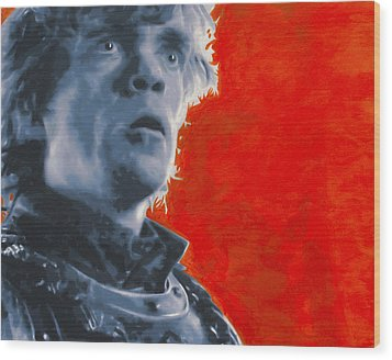 Wood Print featuring the painting Tyrion Lannister by Luis Ludzska