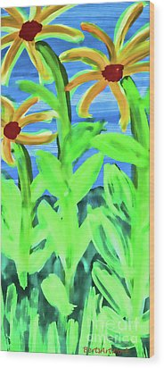Oh Glorious Day Floral Wood Print