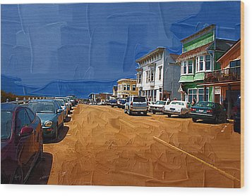Oh Mendocino Wood Print by Holly Ethan