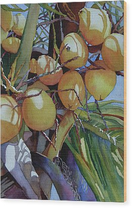 Oh Nuts Wood Print by Judy Mercer