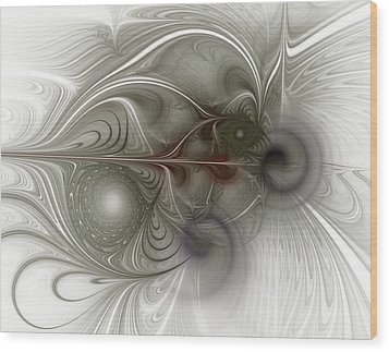 Wood Print featuring the digital art Oh That I Had Wings - Fractal Art by NirvanaBlues