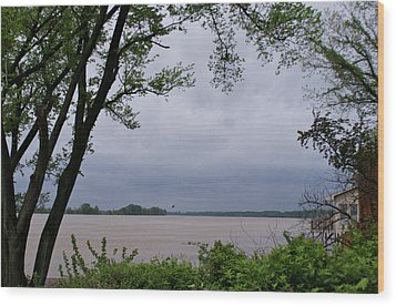 Ohio River Wood Print by Sandy Keeton