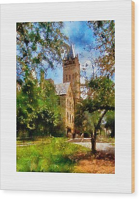 Ohio Wesleyan Chapel Wood Print