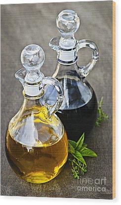 Oil And Vinegar Wood Print by Elena Elisseeva