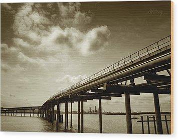 Oil Bridge II Wood Print