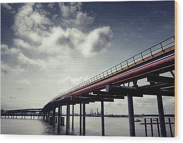Oil Bridge Wood Print