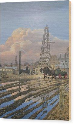 Oil Craze Of 1889 Wood Print