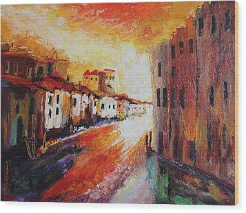 Oil Msc 013 Wood Print
