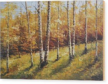Oil Msc 028 Wood Print