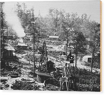 Oil: Pennsylvania, 1863 Wood Print by Granger