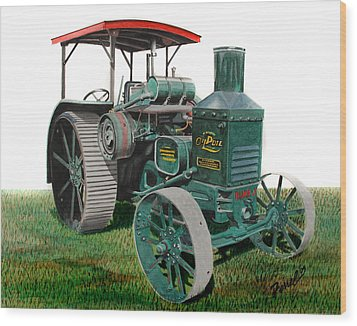 Oil Pull Tractor Wood Print by Ferrel Cordle