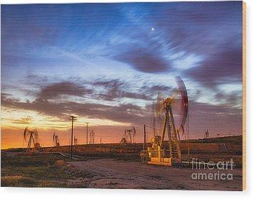 Oil Rigs 3 Wood Print