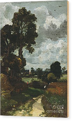 Oil Sketch Of Stoke-by-nayland Wood Print by John Constable