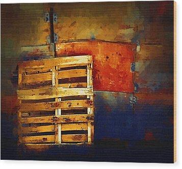 Okanagan Pallet Wood Print by Bill Kellett