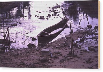 Okinawa Canoe Parking Wood Print by Curtis J Neeley Jr