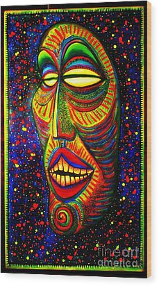 Ol' Funny Face Wood Print