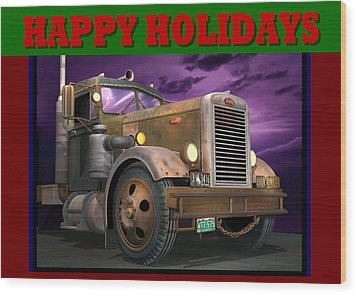Ol' Pete Happy Holidays Wood Print by Stuart Swartz