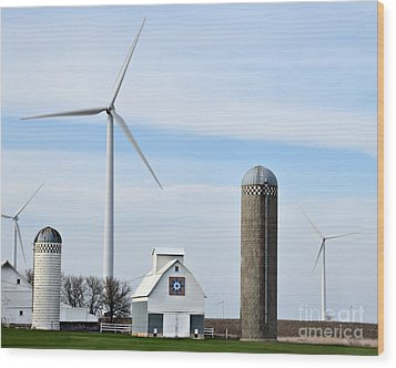 Old And New Farm Site Wood Print by Kathy M Krause
