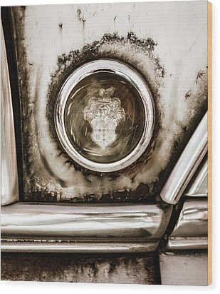 Wood Print featuring the photograph Old And Worn Packard Emblem by Marilyn Hunt