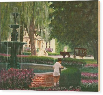 Old And Young Of Savannah Wood Print by Ben Kiger