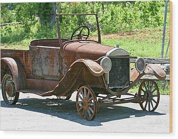 Old Antique Vehicle Wood Print by Douglas Barnett