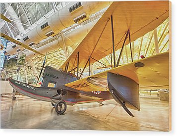 Wood Print featuring the photograph Old Army Biplane by Lara Ellis