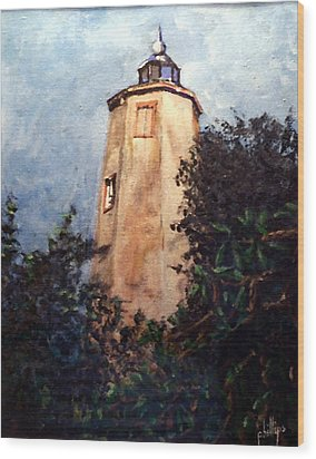 Wood Print featuring the painting Old Baldy by Jim Phillips