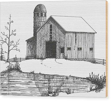 Old Barn 1 Wood Print by BJ Shine