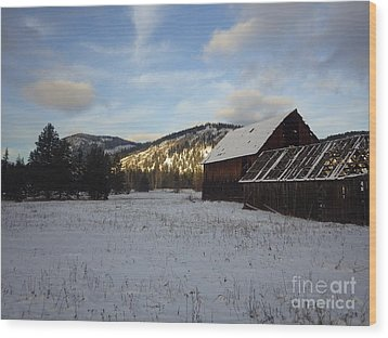 Wood Print featuring the photograph Old Barn 2 by Victor K