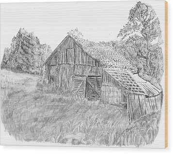 Old Barn 3 Wood Print by Barry Jones