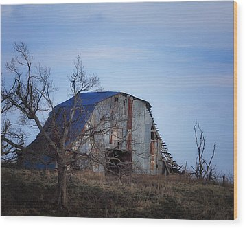 Wood Print featuring the photograph Old Barn At Hilltop Arkansas by Michael Dougherty