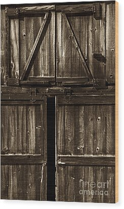 Old Barn Door - Toned Wood Print by Paul W Faust -  Impressions of Light