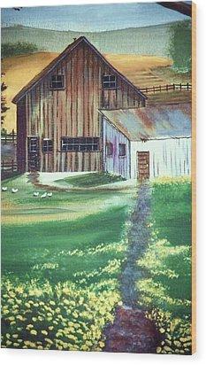 Old Barn Wood Print by Eileen Blair