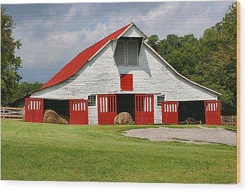 Old Barn Wood Print by Kristin Elmquist