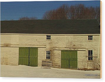 Old Barn Wood Print by Lois Lepisto