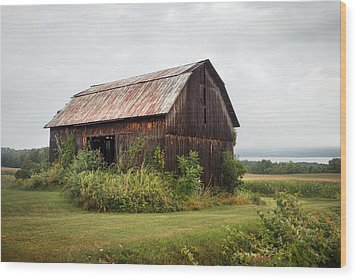 Old Barn On Seneca Lake - Finger Lakes - New York State Wood Print