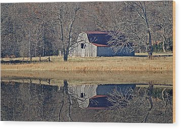 Wood Print featuring the photograph Old Barn by Rick Friedle