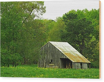 Old Barn V Wood Print
