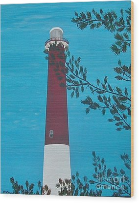 Wood Print featuring the painting Old Barney by Lori Jacobus-Crawford
