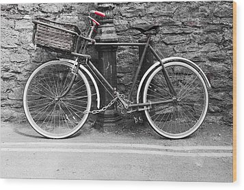 Old Bicycle Wood Print by Helen Northcott