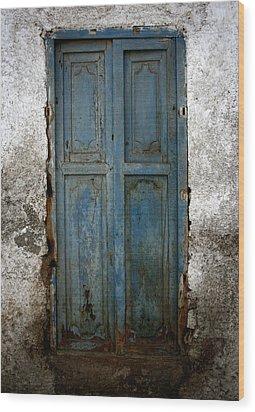 Old Blue Door Wood Print by Shane Rees