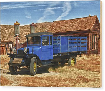 Old Blue 1927 Dodge Truck Bodie State Park Wood Print by James Hammond